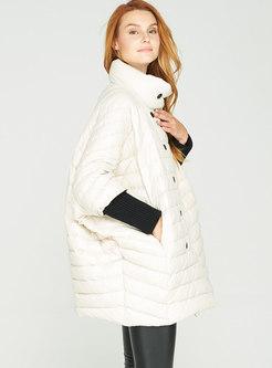 Plus Size Bat Sleeve Lightweight Puffer Coat