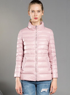 Long Sleeve Lightweight Short Puffer Coat