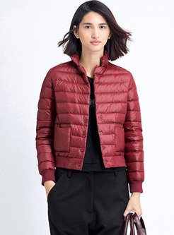 Mock Neck Lightweight Short Puffer Jacket