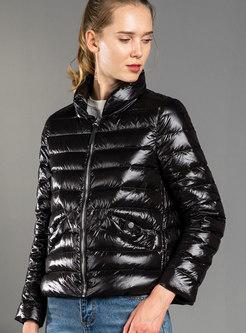 Solid Color Slim Short Puffer Coat