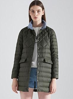Mock Neck Slim Packable Puffer Coat