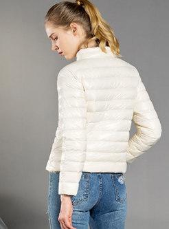 Long Sleeve Slim Packable Puffer Coat