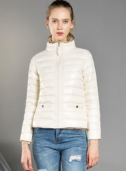 Long Sleeve Slim Packable Puffer Coat