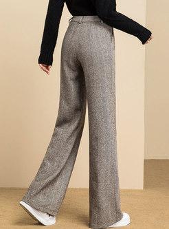 High Waisted WoolBlend Wide Leg Pants