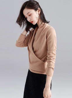 Long Sleeve Pullover Slim Knit Sweater