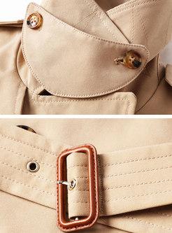 Khaki Double Breasted Trench Coat
