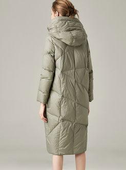 Long Sleeve Loose Lightweight Down Coat