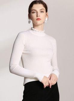 Turtleneck Long Sleeve Wool Sweater