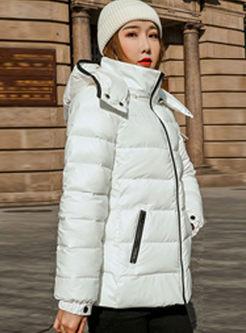 Hooded Slim Short Puffer Coat
