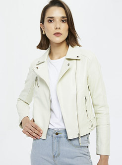 Casual Slim Short Biker Jacket