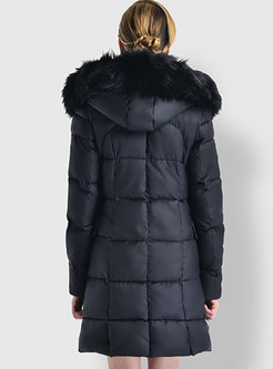 Thick Cotton Hooded Down Cotton Puffer Coat