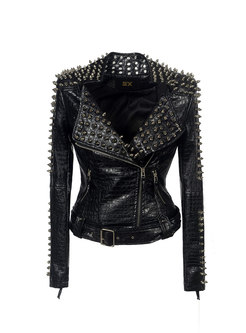 Rivet Slim Short PU Jacket