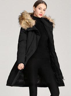 Fur Collar Down Cotton Parka Coat