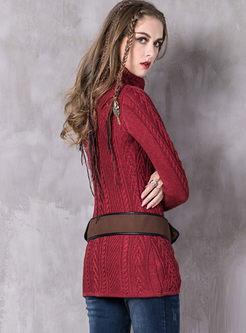 Turtleneck Pullover Slim Sweater