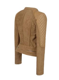 Brown Slim Patchwork Short Jacket