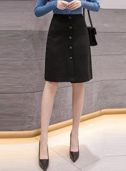 High Waisted Office Bodycon Skirt