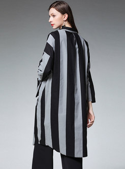 Striped Straight Loose T-shirt Dress