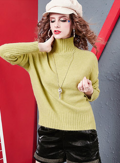 Turtleneck Loose Pullover Knit Sweater