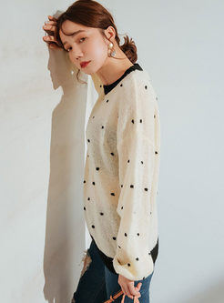 Sweet Pink Dot Transparent Sweater