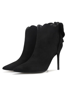 Pointed Head High Heel Ankle Boots