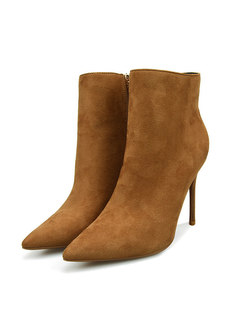 Pointed Head Thin Heel Short Boots