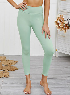 Solid Color Tight Elastic Fitness Pants