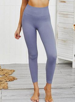 Solid Color High Waisted Yoga Pants