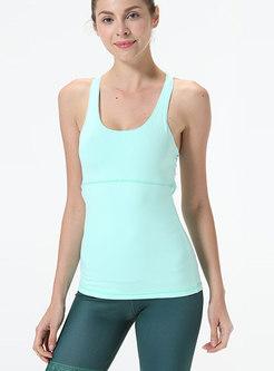 Scoop Backless Slim Fitness Top