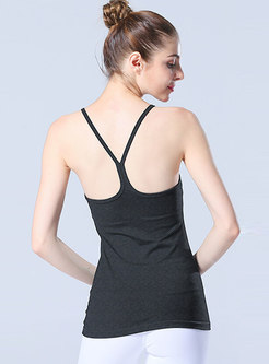 Pure Color Scoop Slim Quick-drying Top
