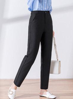 Black High Waisted Work Harem Pants
