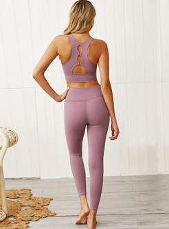 Scoop Backless Slim Workout Tracksuit