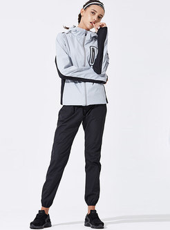Hooded Long Sleeve Loose Workout Tracksuit