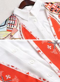Print Patchwork Tied Pant Suits