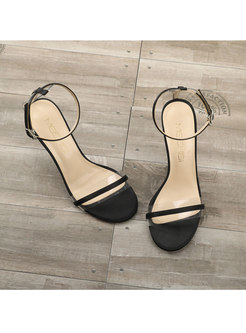 Clear Strap Pointed Heel Sandals