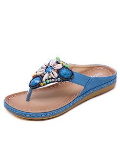 Bohemia Rhinestone Flip Flop Sandals