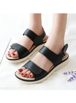 Velcro Buckle Sponge Massage Flat Sandals