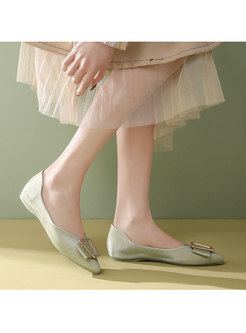 Pointed Toe Slow-cut All-matched Flats
