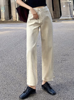 High Waisted Pure Color Long Harem Pants