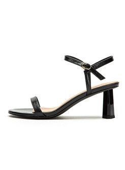 Pointed Toe Chunky Heel Fashion Sandals