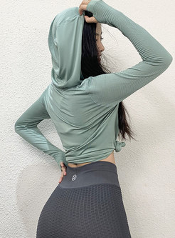 Hooded Long Sleeve Pullover Sport Top