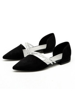 Pointed Toe Low Chunky Heel Spring/Summer Shoes