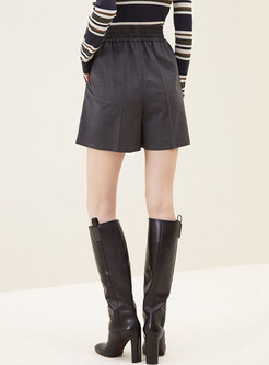 Casual High Waisted Wide Leg Shorts