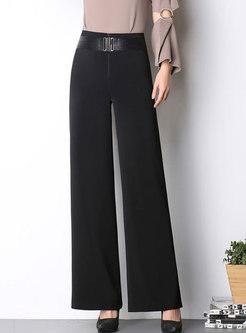 Brief High-Waist Loose Wide Leg Pants