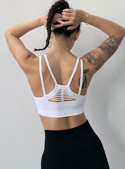 Sexy Backless Openwork Tight Sports Yoga Bra