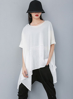 Half Sleeve Plus Size Pullover Loose T-shirt