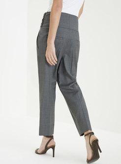 Bowknot High Waisted Casual Harem Pants