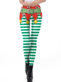 Christmas Print Strechy Leggings