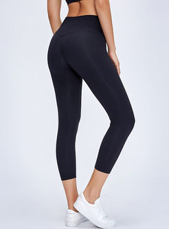 Brief Tight Fitness Sports Yoga Cropped Pants