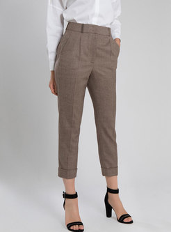 High Waisted Slim Blazer Pants