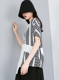 Plus Size Pullover Loose Asymmetric T-shirt
